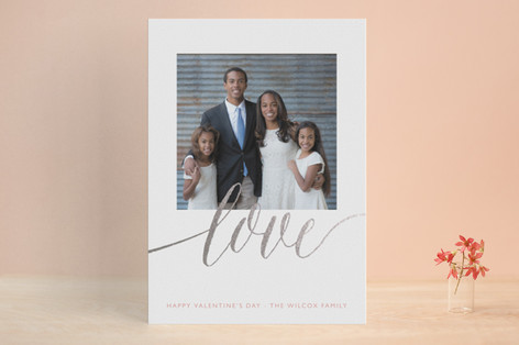A Sparkly Love Foil-Pressed Valentine Cards