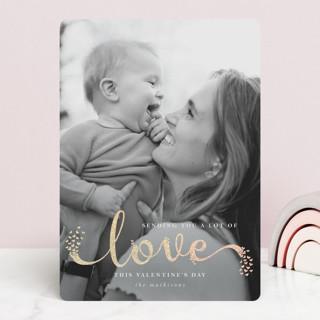 Hearts Aflutter Foil-Pressed Valentine Cards