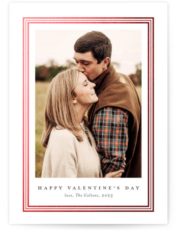 Ever classic Foil-Pressed Valentine's Day Cards