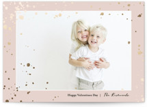 This is a pink foil stamped valentine card by Tina Lee called lovefetties with foil-pressed printing on smooth signature in standard.