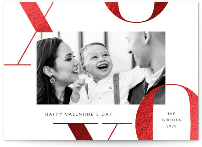 X's and O's Foil-Pressed Valentine's Day Cards