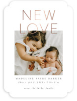 This is a grey foil stamped valentine card by Ally Madison called New Love with foil-pressed printing on smooth signature in standard.