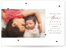 This is a red foil stamped valentine card by Erica Krystek called Little Love with foil-pressed printing on smooth signature in standard.