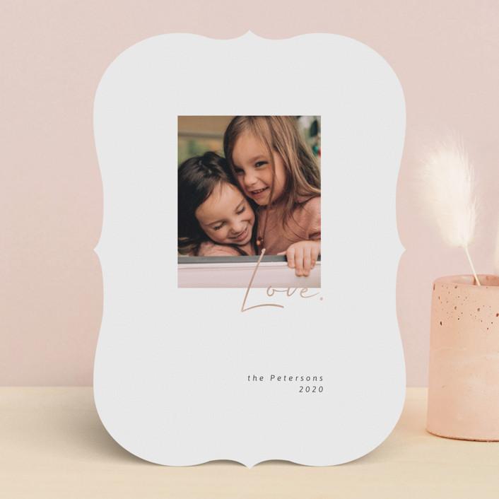 """Golden Love"" - Preppy Foil-pressed Valentine Cards in Ebony by Sumak Studio."