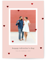 This is a pink foil stamped valentine card by Catherine Culvenor called Love Sprinkle with foil-pressed printing on smooth signature in standard.