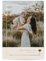 This is a beige foil stamped valentine card by Creo Study called Lovestruck with foil-pressed printing on signature in standard.
