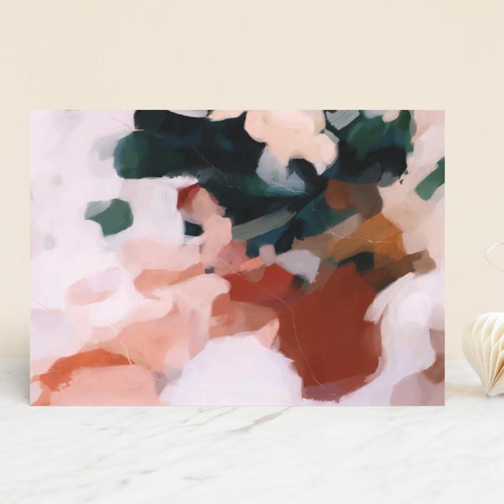 """""""Otonio"""" - Vellum Background Cards in Burnt Umber by Parima Studio."""