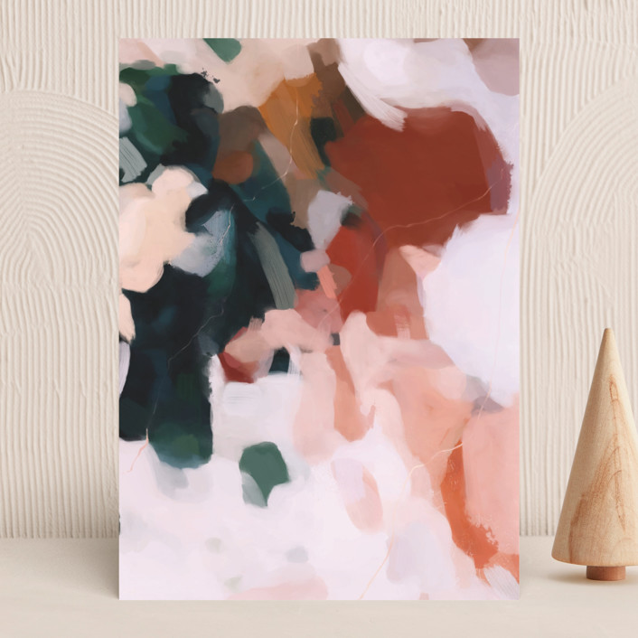 """Otonio"" - Vellum Background Cards in Burnt Umber by Parima Studio."