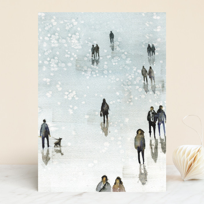 """Winter Wander"" - Vellum Background Cards in Winter by Lulaloo."