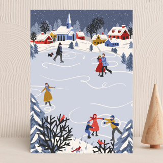 """""""Winter Skate"""" - Vellum Background Cards in Primary by Meggy Masters."""