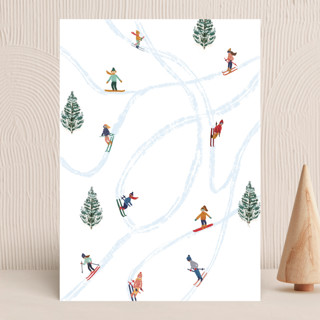 """Snow Fun"" - Vellum Background Cards in Snow by Elly."