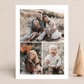 """""""3-Photo Portrait"""" - Vellum Background Cards in Cloud by Minted."""