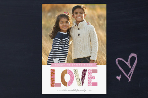 Patterned Love Valentine's Day Cards
