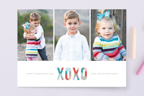 Modern XOXO Valentine's Day Cards