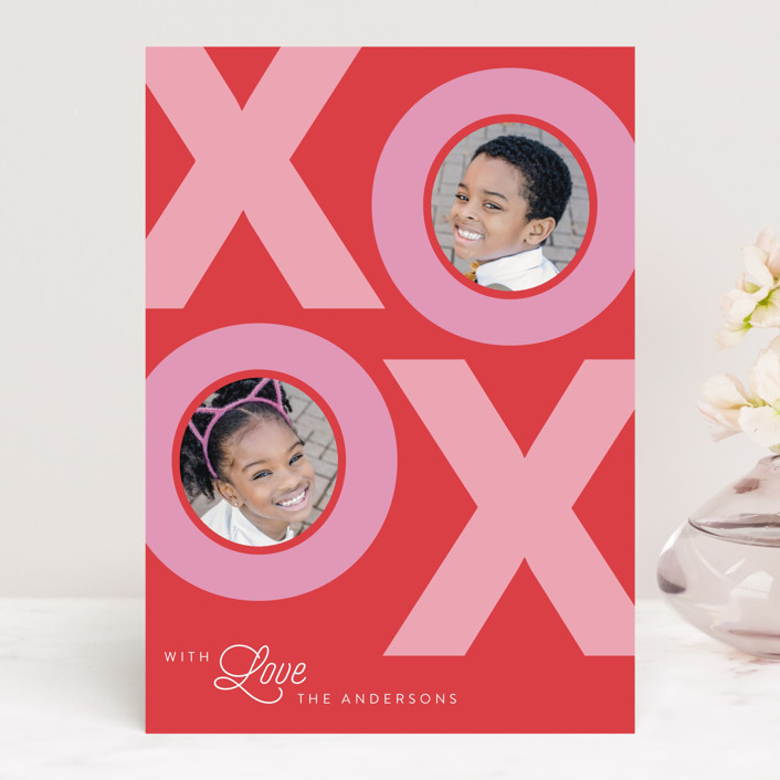 """""""With Love"""" - Valentine's Day Cards in Cherry by Catherine Culvenor."""