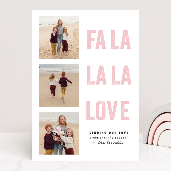 """""""FA LA Love"""" - Funny Valentine's Day Cards in Peony by Susan Brown."""