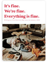 This is a red valentines day by Jackie Crawford called Everything is Fine with standard printing on signature in standard.