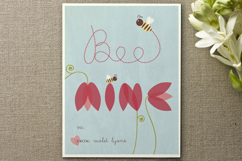 petals of mine Valentine's Day Cards by Carrie Eckert