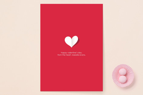 paper heart Valentine's Day Cards