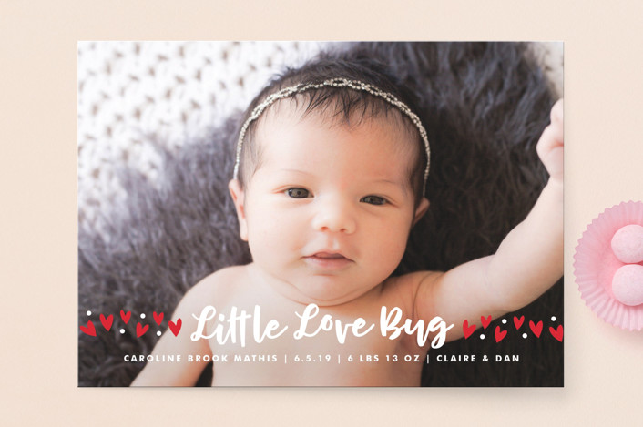 """""""Love Bug"""" - Funny Valentine's Day Cards in Blush by Lauren Chism."""