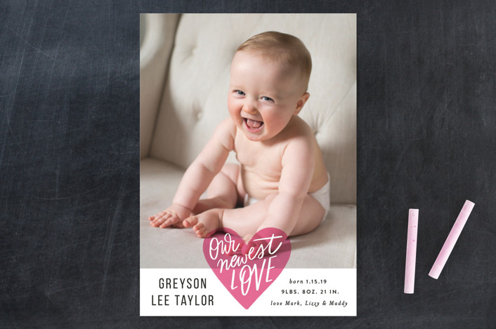 """""""Newest Love Heart"""" - Valentine's Day Cards in Rose by Alethea and Ruth."""