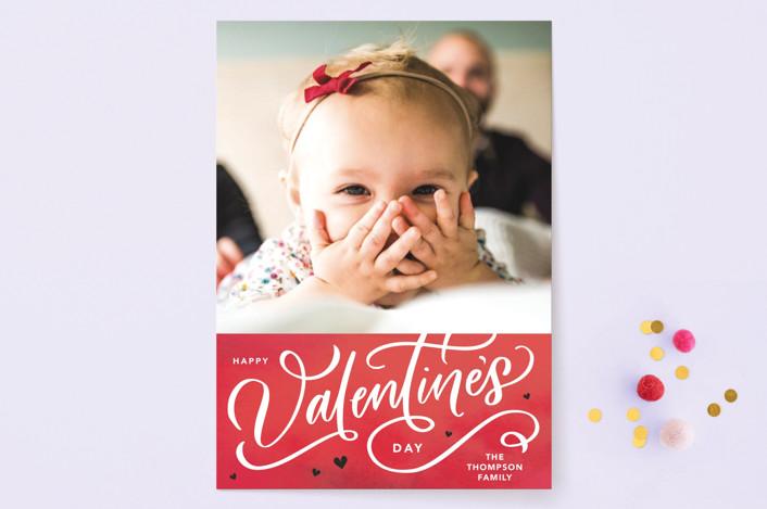 """""""Valentines Script"""" - Valentine's Day Cards in Crimson by Kristen Smith."""