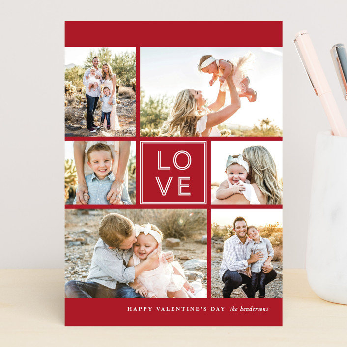 """""""JOY-FUL"""" - Valentine's Day Cards in Holly by Lauren Chism."""