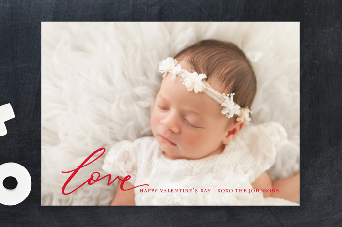 """""""Love"""" - Valentine's Day Cards in Cherry by Sweetgrass Paper Company."""