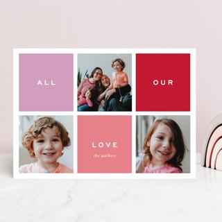 Preppy Blocks Valentine's Day Cards