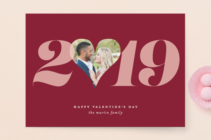 """""""Valentine Yearly Love"""" - Valentine's Day Cards in Cherry by Jackie Crawford."""