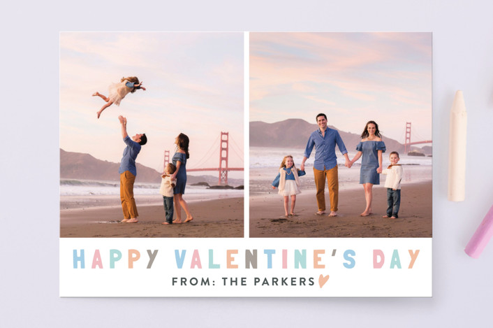 """""""Colorful Valentines"""" - Valentine's Day Cards in Sunset by Kristel Torralba."""