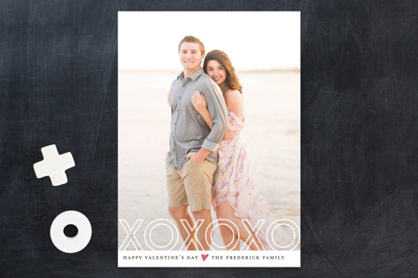 xoxo Outline Valentine's Day Cards