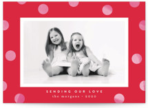 This is a red valentines day by Kristie Kern called Statement Dots with standard printing on smooth signature in standard.