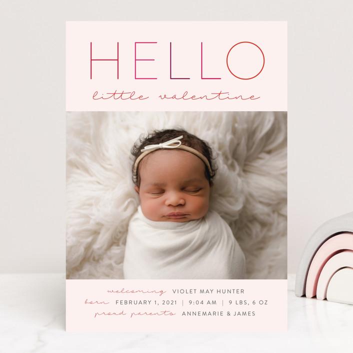"""""""Little Valentine"""" - Valentine's Day Cards in Blush by Nicoletta Savod."""