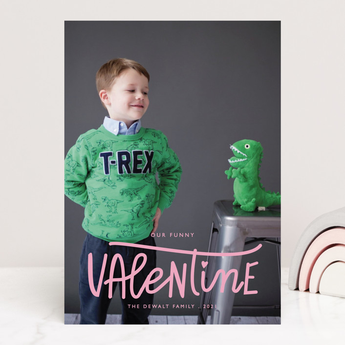 """""""Our Funny Valentine"""" - Funny Valentine's Day Cards in Crimson by Bethany Anderson."""