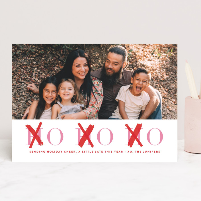 """HOHOXO"" - Funny Valentine's Day Cards in Scarlet by Lori Wemple."