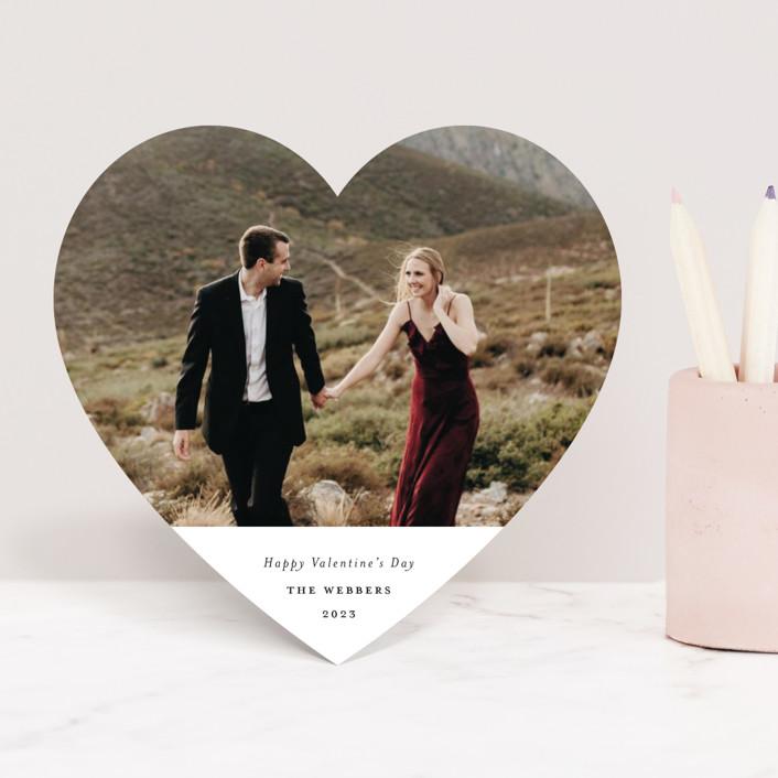 """""""Minimalist Heart"""" - Valentine's Day Cards in Cotton by Genna Cowsert."""