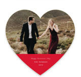 This is a red valentines day by Genna Cowsert called Minimalist Heart with standard printing on smooth signature in standard.