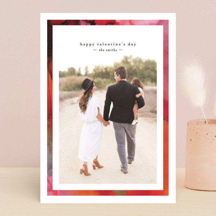 """""""Inked Frame"""" - Valentine's Day Cards in Ruby by Mansi."""