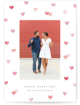 This is a pink valentines day by Hooray Creative called Painted Hearts with standard printing on smooth signature in standard.