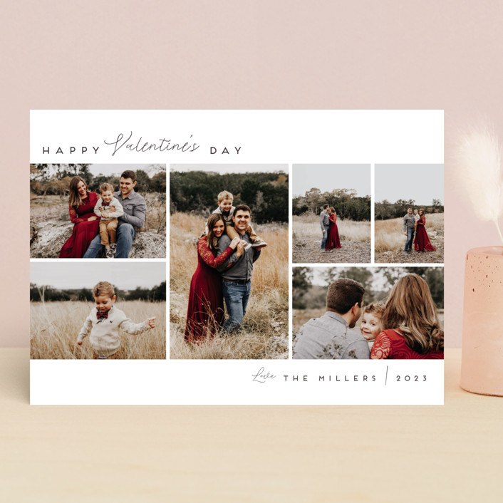 """Valentine's Photo Roll"" - Valentine's Day Cards in Pearl by Nicole Walsh."