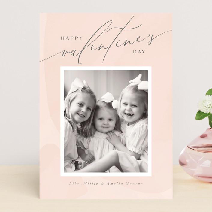 """""""Delight"""" - Valentine's Day Cards in Blush by Nicoletta Savod."""