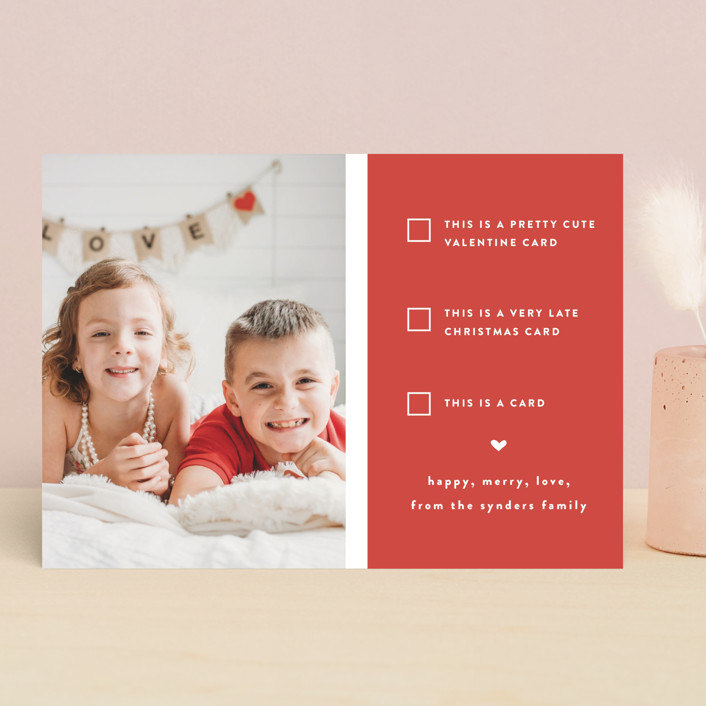 """""""Pick one"""" - Funny, Preppy Valentine's Day Cards in Cherry by Susan Brown."""