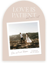 This is a pink valentines day by Owl and Toad called Patient with standard printing on recycled smooth signature in standard.
