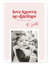 This is a red valentines day by Caitlin Considine called No distance with standard printing on signature in standard.