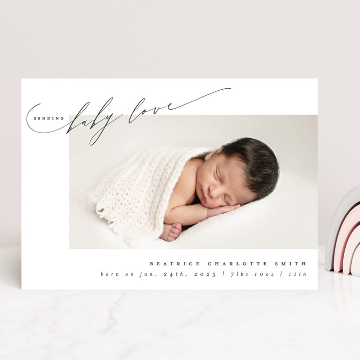 """""""sending baby love"""" - Valentine's Day Cards in Slate by Ana de Sousa."""