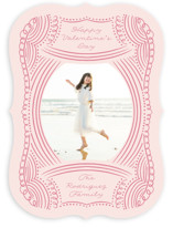 This is a pink valentines day by Nicole Barreto called Doodled Lines with standard printing on signature in standard.