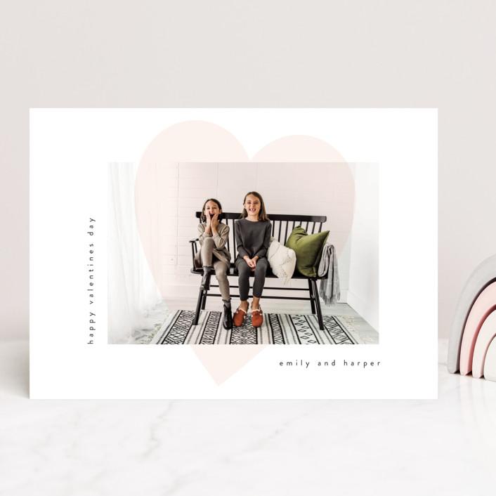 """heart overlay"" - Valentine's Day Cards in Carnation by Angela Garrick."