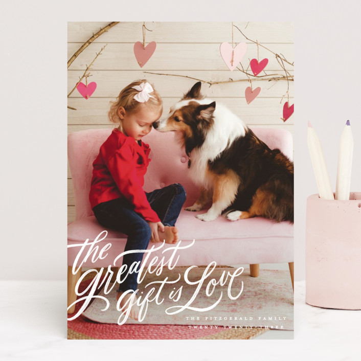 """""""the greatest gift"""" - Valentine's Day Cards in Cloud by Wildfield Paper Co."""
