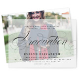 This is a black vellum graduation announcement by Lauren Chism called Formal with standard printing on translucent vellum in overlay.